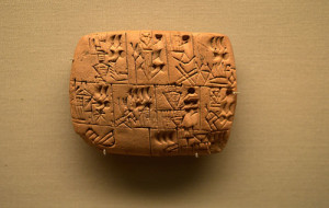 cuneiform tablet depicting beer allocation, c. 3000 b.c. British Museum Photograph: takomabibelot on Flickr