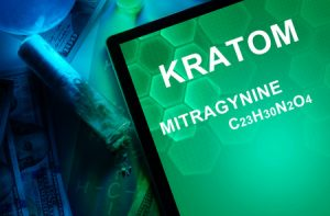 36473493 - tablet with the chemical formula of kratom (mitragyna speciosa) mitragynine. drugs and narcotics