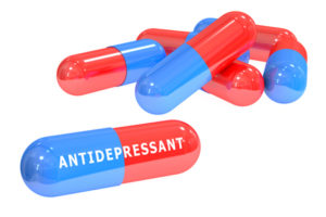 54164089 - antidepressant pills 3d rendering isolated on white background